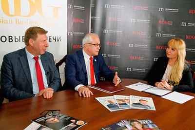 участники первого выпуска цикла видеопрограмм «Russian Business Guide. Деловые встречи»