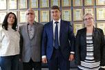 Президент холдинговой компании 'UDI group' (Республика Таджикистан) Саидмурад Давлатов провёл переговоры с исполнительным директором НАОРЦ Владимиром Лищуком