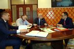 В Посольстве Кыргызской Республики в Российской Федерации состоялась рабочая встреча с Советником посольства Кадыровым Радмилом Джаныбековичем