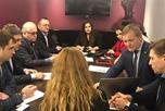В бизнес-центре Манхеттен состоялось выездное заседание Московской торгово-промышленной палаты.