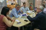 В Центральном офисе компании 'Интерагро' состоялись переговоры Генерального директора Е.Н.Бабаевой с Исполнительным директором НАОРЦ В.В.Лищуком