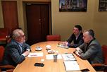 Состоялись переговоры исполнительного директора НАОРЦ Владимира Лищука с руководителями представительства Муратом Геховым и Владимиром Гончаровым