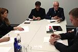 В офисе Национальной Ассоциации Оптово-Распределительных Центров состоялась рабочая встреча исполнительного директора НАОРЦ Владимира Лищука с Президентом Центра Экономики Инфраструктуры, кандидатом экономических наук Владимиром Косым.