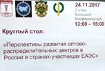 Союз предпринимателей евразийской экономической зоны «Евразийский деловой союз» и Торгово-промышленная палата г. Москвы совместно с Научно-исследовательским финансовым институтом Минфина России провели круглый стол